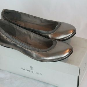 Bandolino Women's Edition Gold Leather Ballet Flat